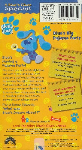 Ebay Blue S Clues Pajama Party Book Orlynx Co