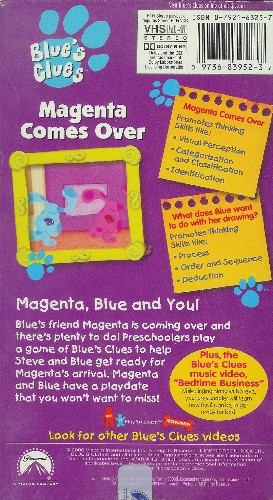 Blue s clues magenta comes over vhs tv series auctions buy and